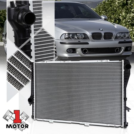 Bmw Radiator Support (Aluminum Core Radiator OE Replacement for 99-06 BMW 525i/528i/530i/740i/750iL/M5 00 01 02 03 04 05)