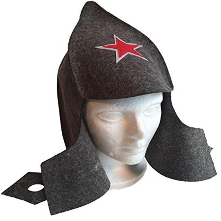 Russian Gray Wool Felt Budenovka Red Army Military Style Hat for Sauna Banya Steamroom for $<!---->