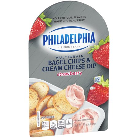 Philadelphia Bagel Chips And Strawberry Cream Cheese Dip