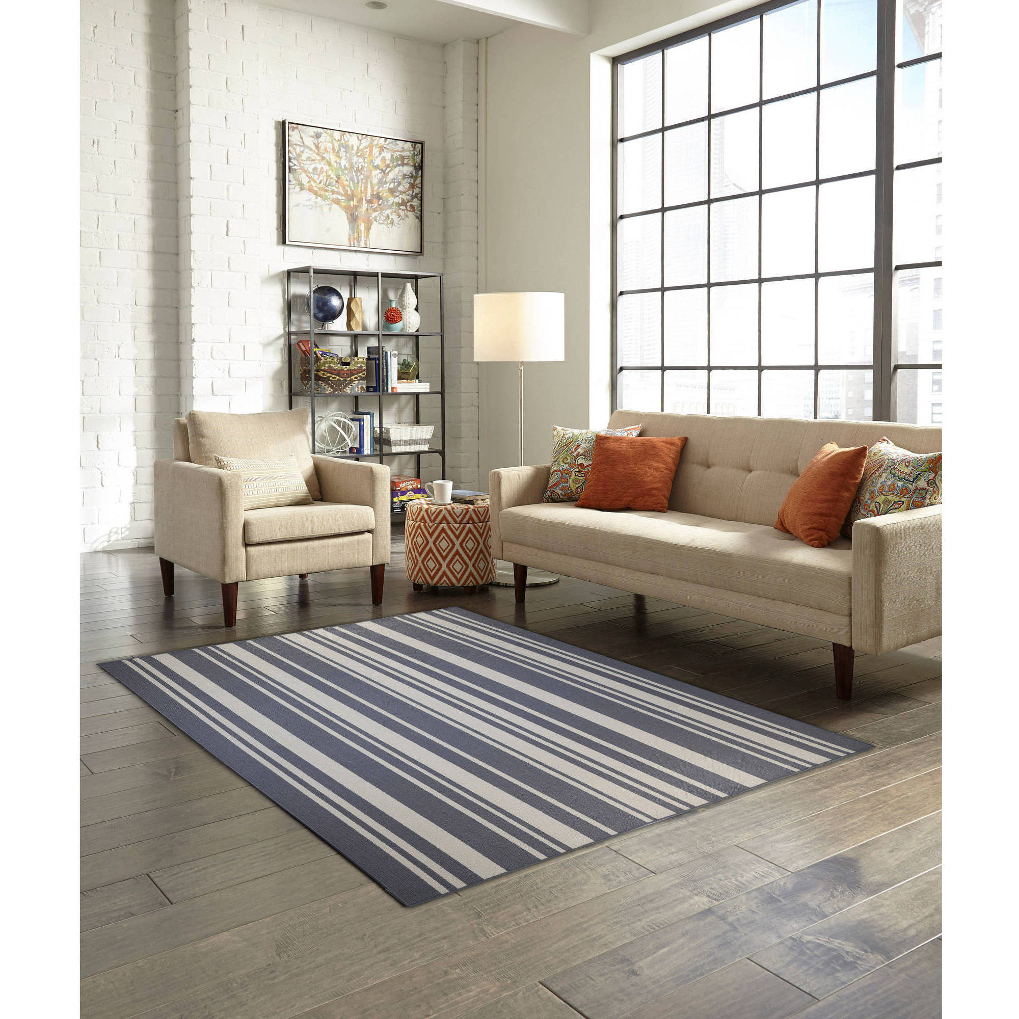 Maples PermaTuft Striped Area Rugs Or Runner Collection
