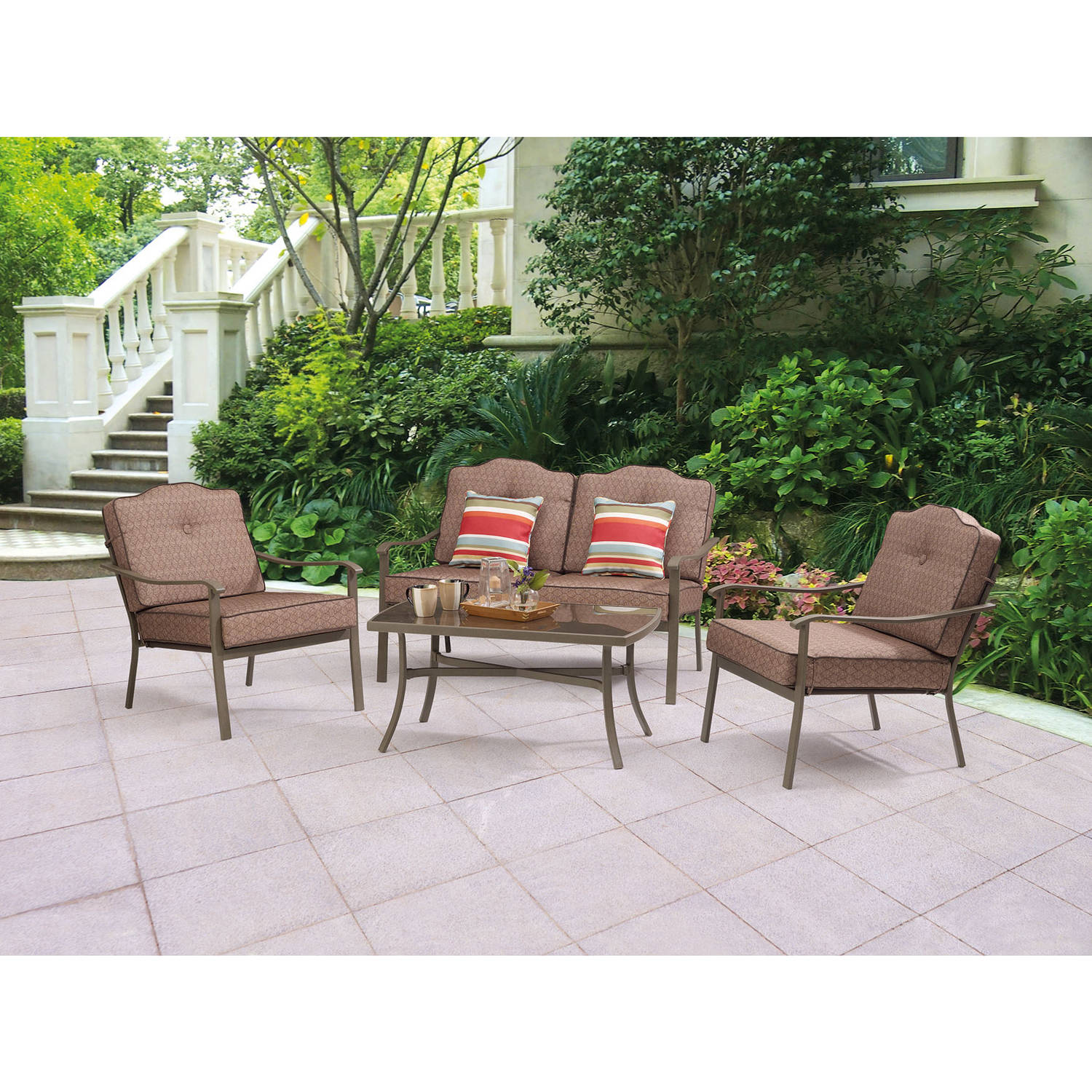 Mainstays Woodland Hills 4-Piece Chat Set
