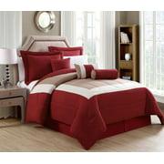 7 Piece Rosslyn Black/Teal Comforter Set
