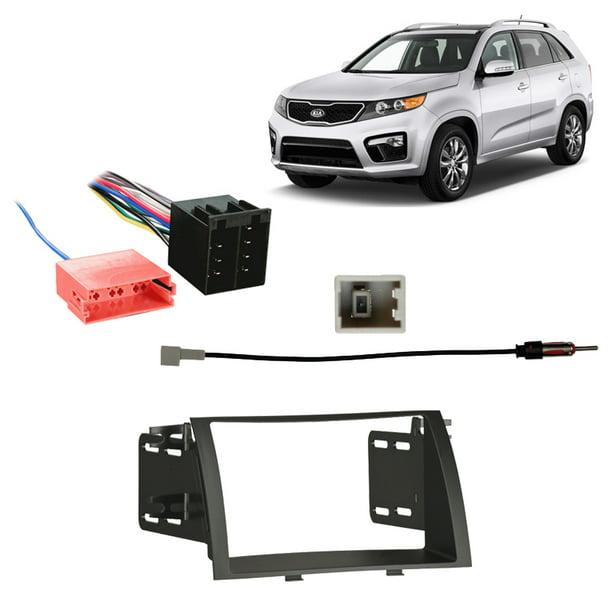 [WQZT_9871]  Fits Kia Sorento Non-NAV 2011-2013 Double DIN Harness Radio Install Dash  Kit - Walmart.com - Walmart.com | 2013 Kia Sorento Radio Wiring |  | Walmart