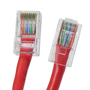 InstallerParts 6 ft Cat 5E Non-Boot Patch Cable Red
