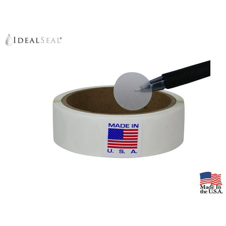 Wafer Seals, Envelope Seals, Mailing Seals,1 inch Diameter, Translucent, Great to seal Folded Self-Mailers, Booklets and Catalogs, 1500 Labels per Roll/Easy Dispenser box (1500 Per -