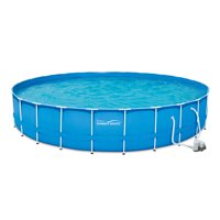 Summer Waves 24-ft x 52-inch Metal Frame Swimming Pool w/Pump Deals