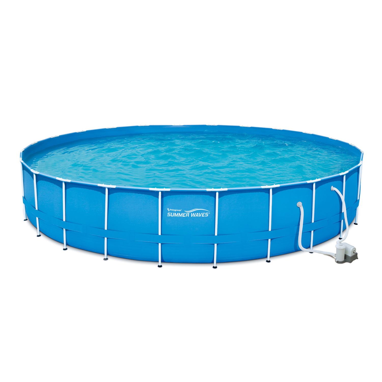 "Summer Waves 24' x 52"" Metal Frame Above Ground Swimming Pool with Filter Pump and Deluxe Accessory Set"