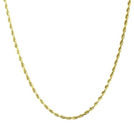 14kt Yellow Gold Rope Chain, 18