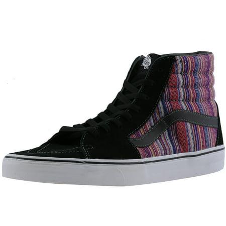 2cee92eb76 Vans Men s Sk8-Hi Guate Weave Black   Multi Ankle-High Fabric Fashion  Sneaker