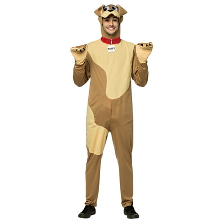 Happy Dog Adult Men's Adult Halloween Costume, One Size, (40-46) (Happy Halloween Stuff)