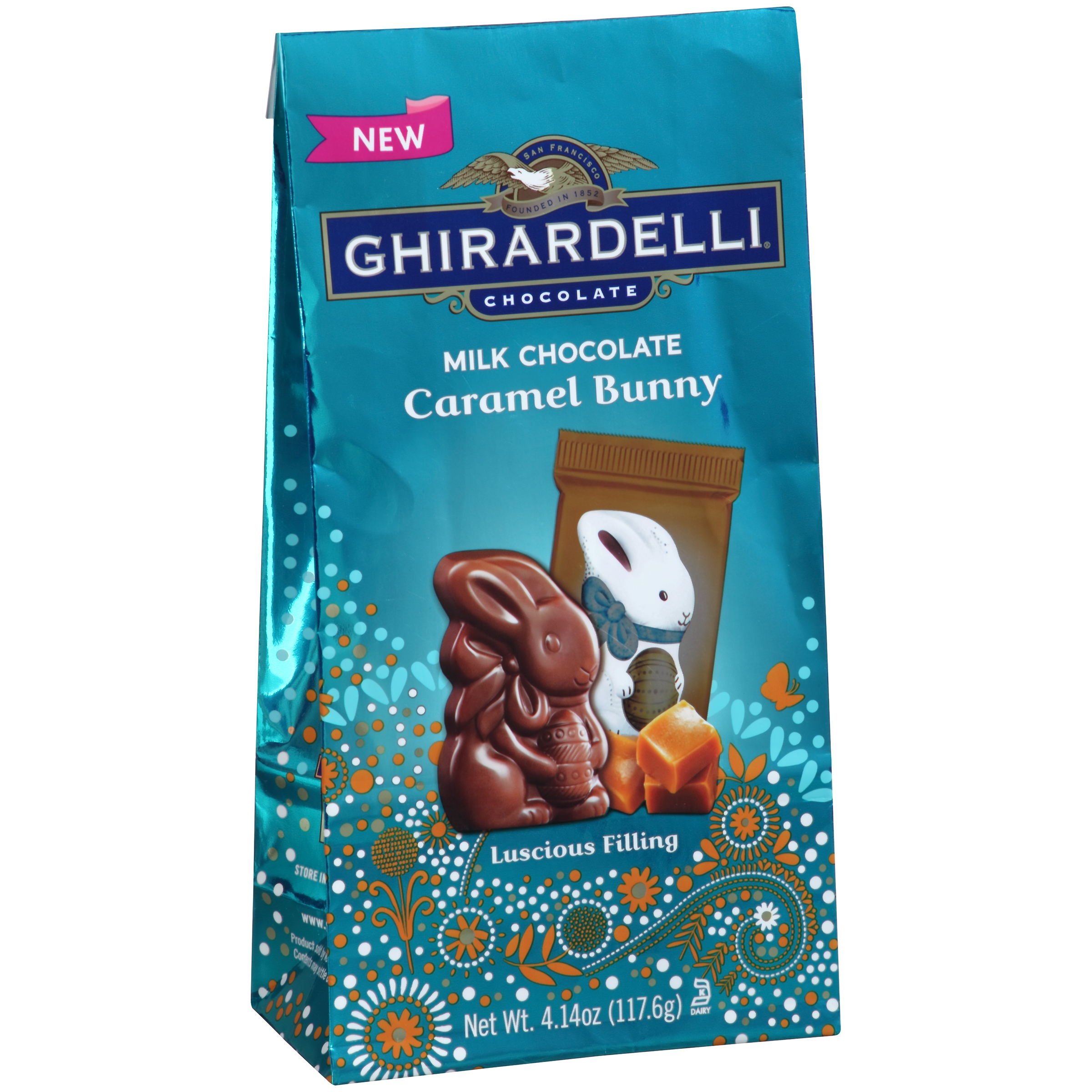 Ghirardelli? Chocolate Milk Chocolate Caramel Bunny 4.14 oz. Bag
