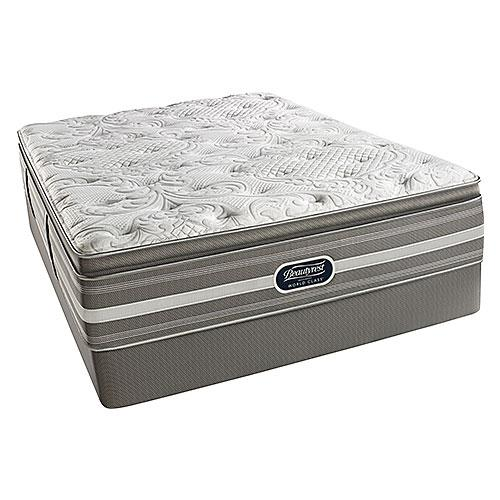 Beautyrest Recharge World Class Salem Plush Pillow Top King Triton LP Foundation Mattress Set