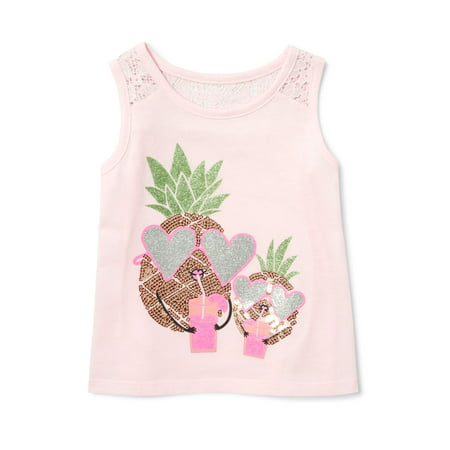Inset Sleeveless (The Children's Place Lace Inset Tank Top (Baby Girls & Toddler Girls))