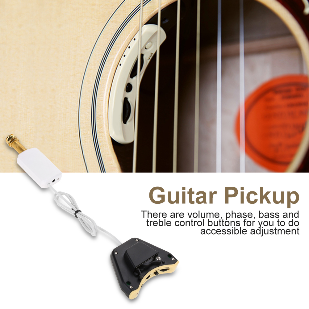 Acoustic Guitar Pickup,Practical Guitar Soundhole Pickup Folk Guitar Pickup Volume Control... by