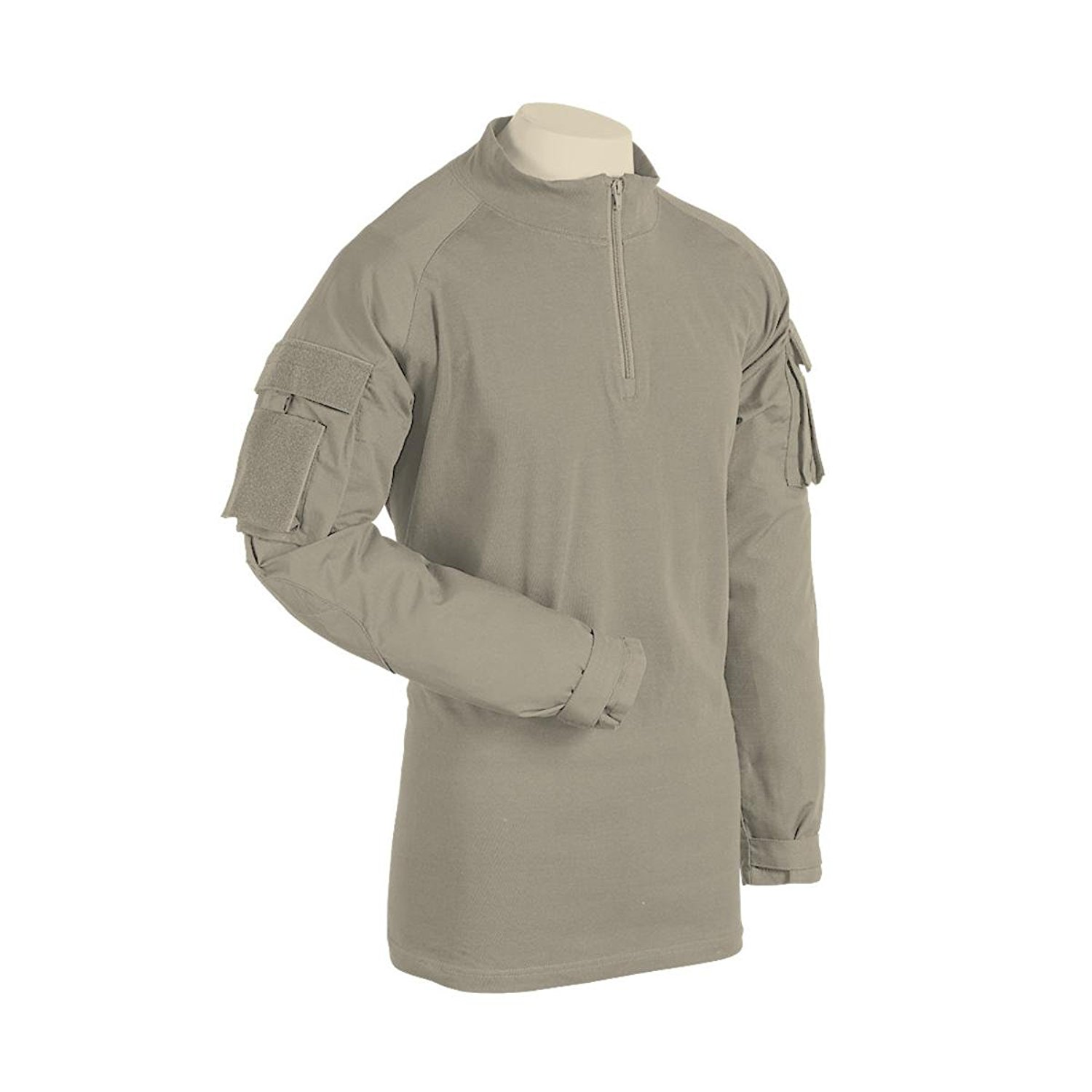 01-9582 Combat Shirt with Zipper, Gray, Tan 019582 Gray S...