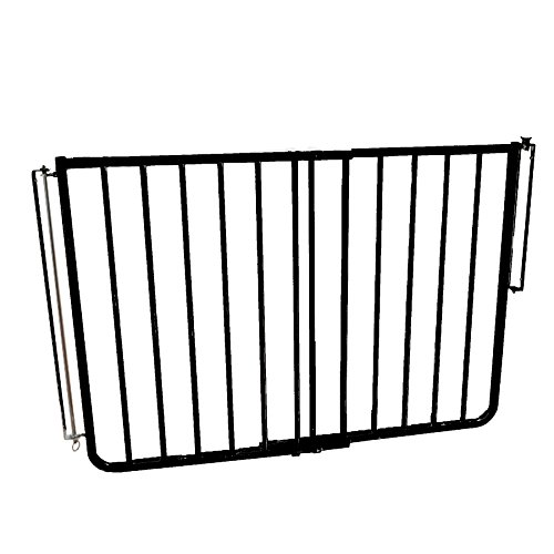 Easy to Install Black Weatherproof Outdoor Safety Gate for Patios & Decks by