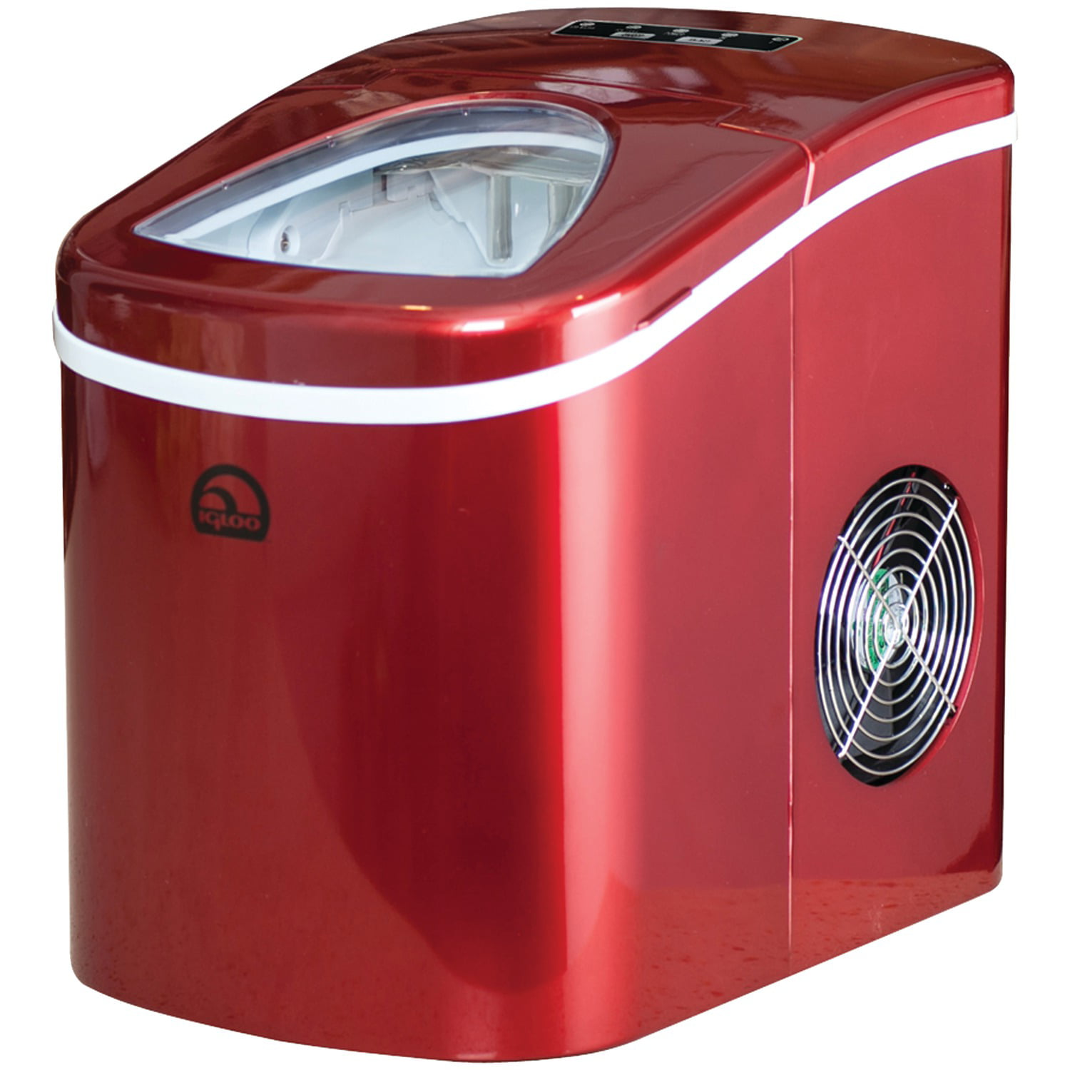 Igloo Compact Portable Ice Maker Ice108 Red Walmart Com Walmart Com