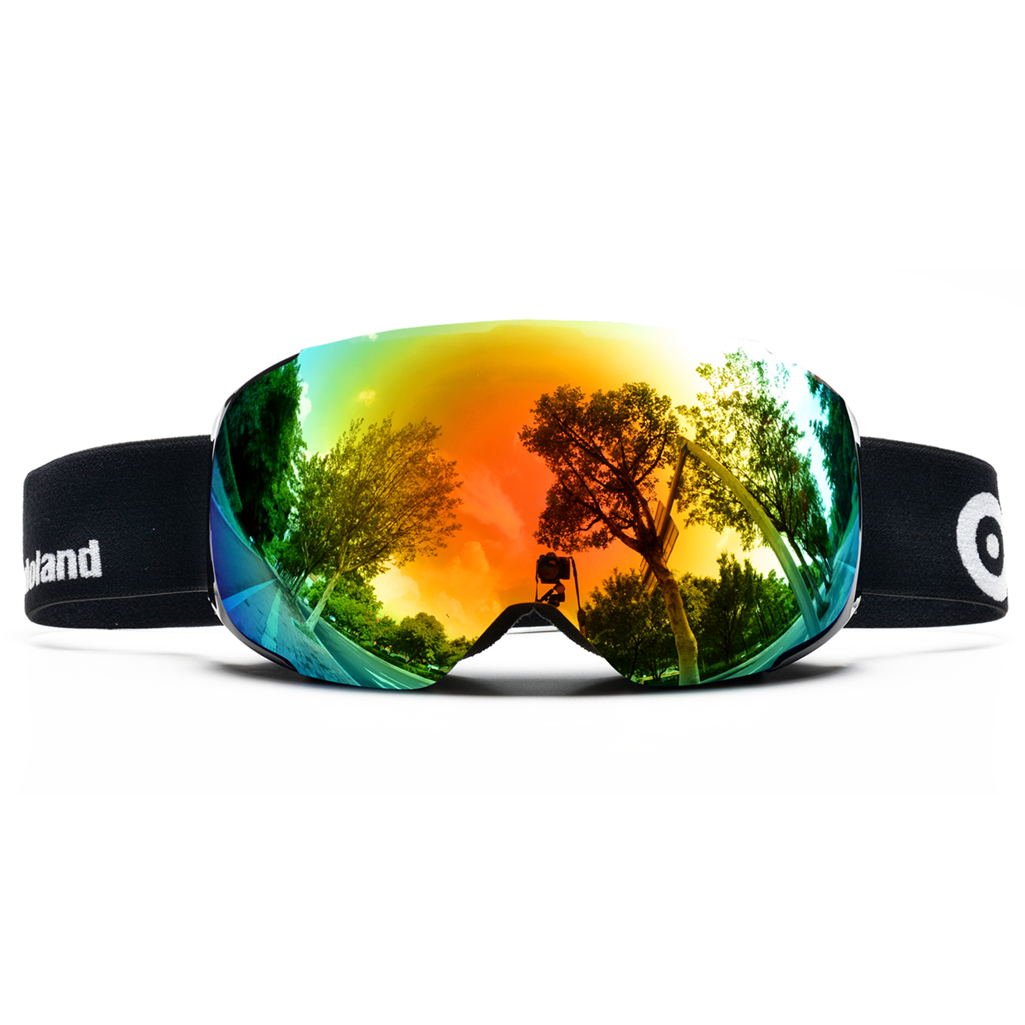 ODOLAND Ski Goggles w  Magnetic Detachable Lens UV400 Protection Mirror and Anti-Fog Lens by