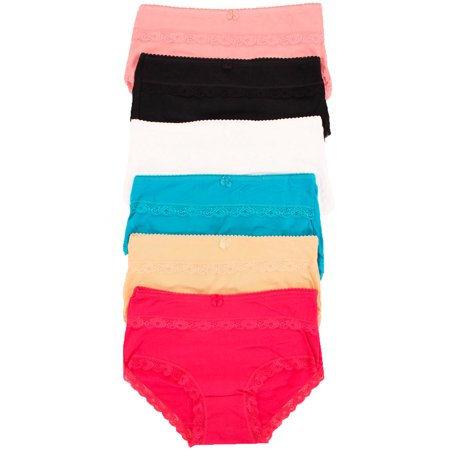 8a5d45effc4f Panmanni - Panmanni 6 Pack of Women's Full Coverage High Waist Cotton Briefs  Panties - Walmart.com