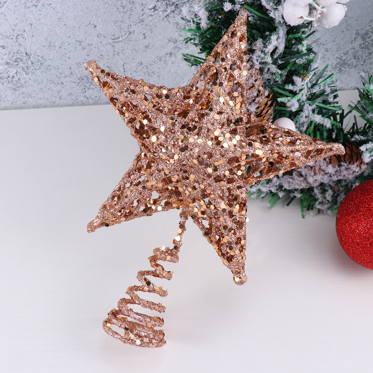 1 pc Christmas Tree Topper Glittering Star and Moon Iron Party Supplies for Shop