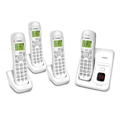 Uniden D1384-4B DECT 4-Handset Cordless Phone System with Answering System
