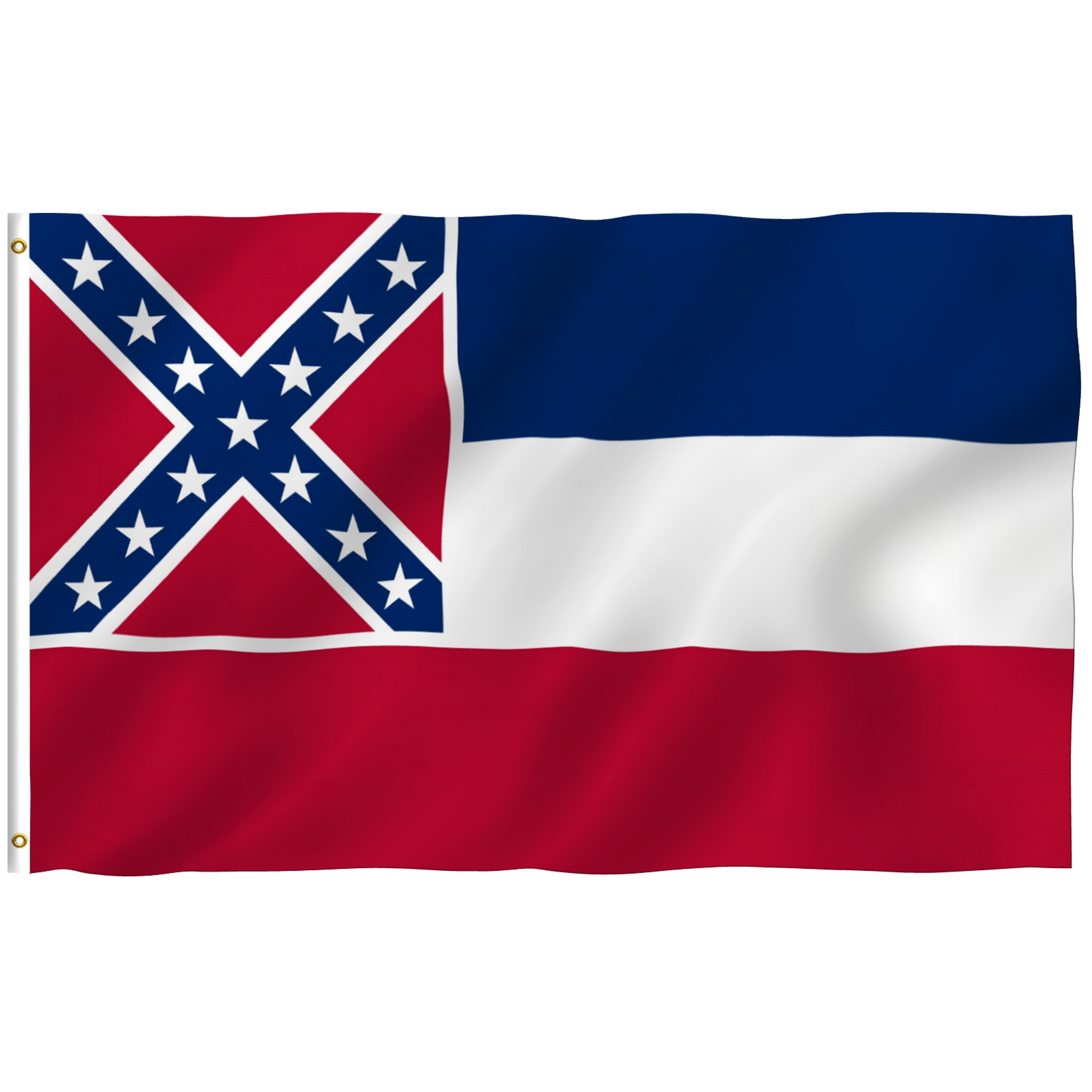 ANLEY [Fly Breeze] 3x5 Foot Mississippi State Polyester Flag - Vivid Color and UV Fade Resistant - Canvas Header and Double Stitched - Mississippi MS Flags with Brass Grommets 3 X 5 Ft