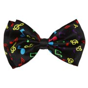 Pre-tied Bowtie - Rainbow Musical Notes