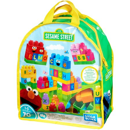Mega Bloks Sesame Street Let's Build Sesame Street 70-Piece