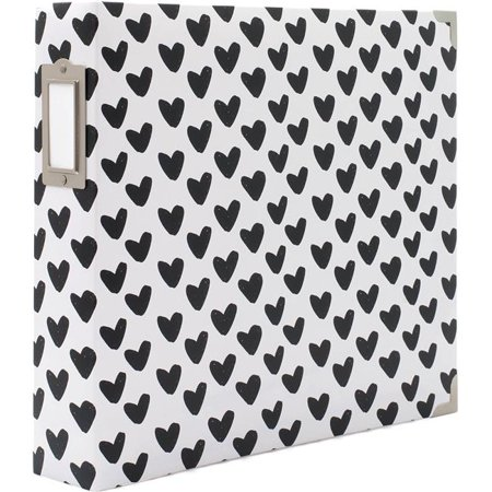 "American Crafts Becky Higgins Project Life 12"" x 12"" Scrapbook Album - D-Ring Binders, Archival Quality - Black and White"