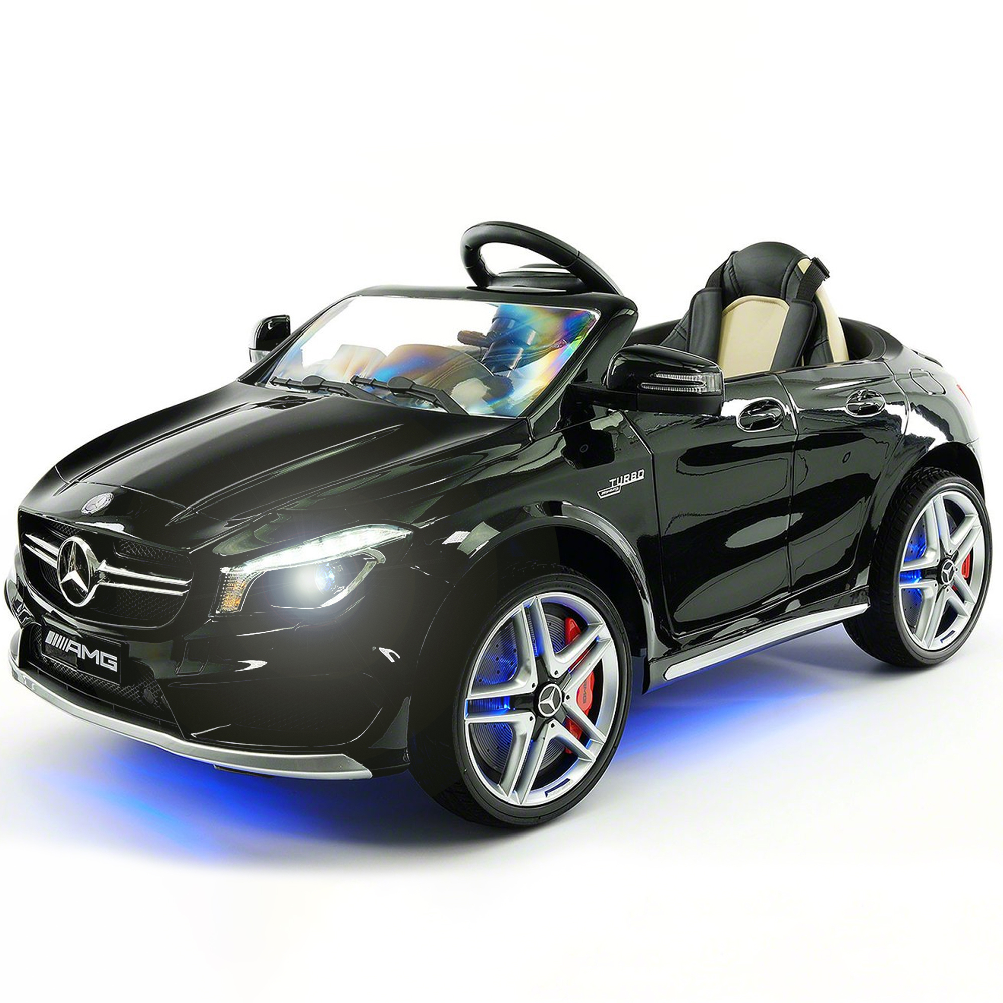 2019 Licensed Mercedes AMG 12V Battery Ride on Toy Car w  Dining Table, LED Lights, Openable Doors by Moderno Kids