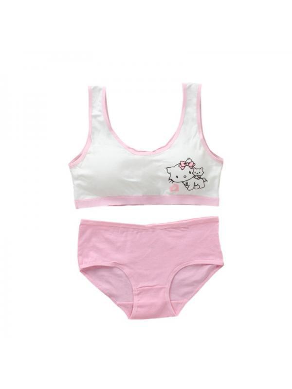 Topumt Girls Bra and Underwear Set, Puberty Girls Training Bra Set Double  Padded Fasteners Panties (Little Girls & Big Girls) - Walmart.com -  Walmart.com