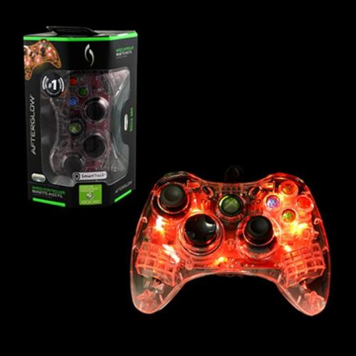 Microsoft Afterglow Wired Controller For Microsoft Xbox 360 - Red