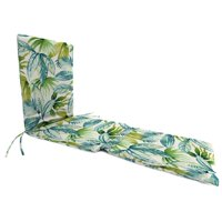 Jordan Manufacturing 74 in. Knife Edge Outdoor Steamer Chaise Cushion - Seneca Caribbean