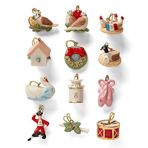 Twelve Days of Christmas 12-pc Ornament Set by Lenox