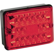 Bargman 42-86-101 Red LED Single Stop & Turn RV Trailer Tail Light with Black Base