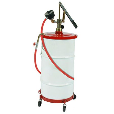 Pump Drum Cover - Zeeline 1208 Gear Lube Pump with Meter, Hose, Dolly & Cover for 16 Gallon Drum