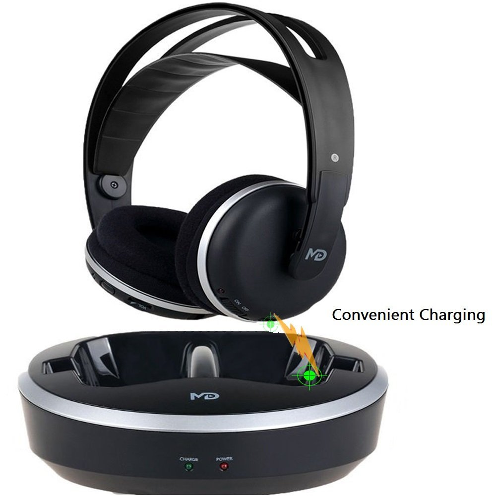 Wireless Universal TV Headphones, Monodeal OVER-EAR Stere...