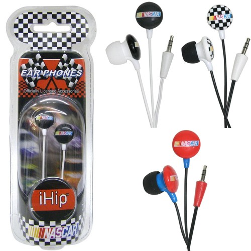 iHip Officially Licensed NASCAR Mini Ear Buds