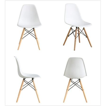 Btexpert Midcentury Natural Wood Metal Legs Dining Room Side Chair