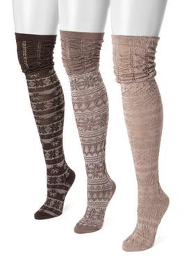5f5221e70 Product Image MUK LUKS® Women's 3 Pair Pack Microfiber Over the Knee Socks