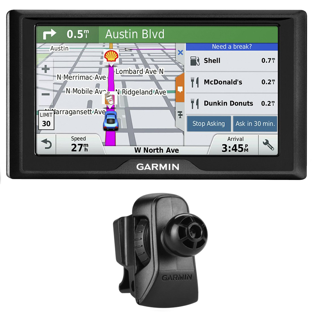 Garmin Drive 60LM GPS Navigator (US) (010-01533-0C) with Garmin Air Vent Mount