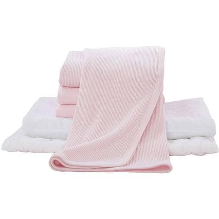 TL Care 6-Piece Mini Crib Starter Set, Pink