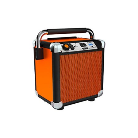 - ion audio job rocker plus | portable heavy-duty jobsite bluetooth speaker system with am/fm radio & dual ac power outlets