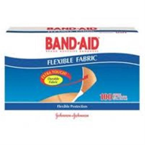 BAND-AID Flexible Fabric Adhesive Bandages 3/4 Inch X 3 Inches 100 ea (Pack of 3)