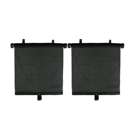 - 2 Pcs Side Window Sun Shade Roller Screen Visors Block for Car
