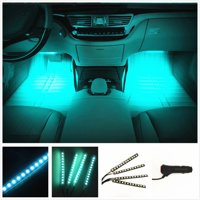 Product Image Cybertech Car Led Strip Light 4pcs 72 Dc 12v Multicolor Music Interior