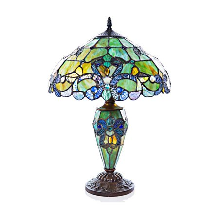 River of Goods Magna Carta Stained Glass Double Lit Table Lamp ()