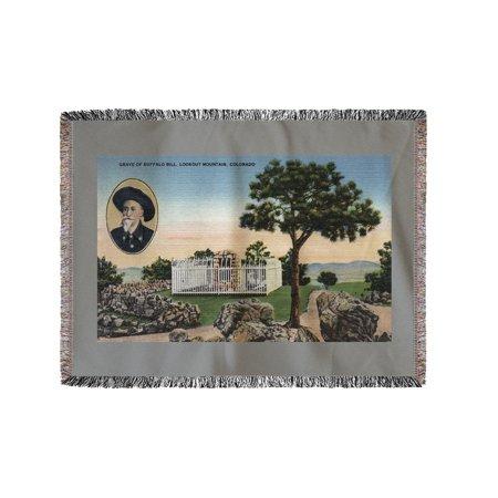 Lookout Mountain, Colorado - Buffalo Bill Grave View (60x80 Woven Chenille Yarn Blanket)