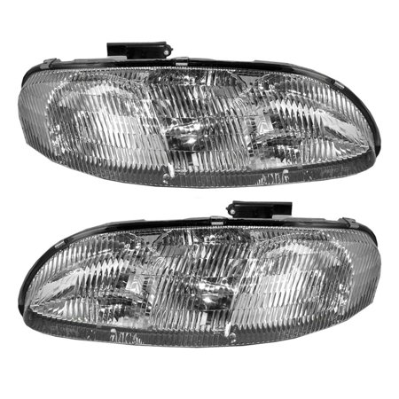 BROCK Headlights Headlamps Driver and Passenger Replacements for 95-01 Chevrolet Lumina & 95-99 Monte Carlo 10420375 -