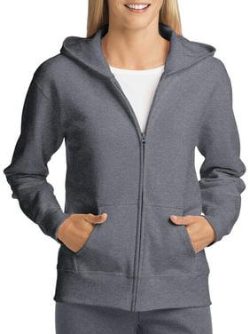 Hanes ComfortSoft EcoSmart Women's Fleece Full-Zip Hoodie Sweatshirt